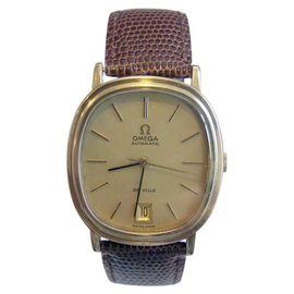 Omega De Ville Stainless Steel & Leather Vintage 34.6mm Mens Watch