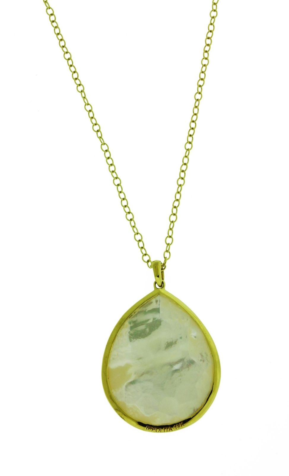 """Image of """"Ippolita Rock Candy 18K Yellow Gold with Teardrop Mother of Pearl"""""""