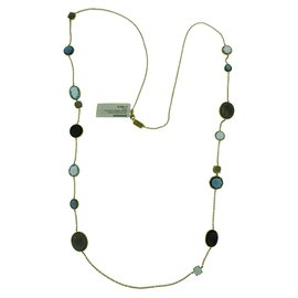 Ippolita Rock Candy 18K Yellow Gold with Topaz Chain Necklace