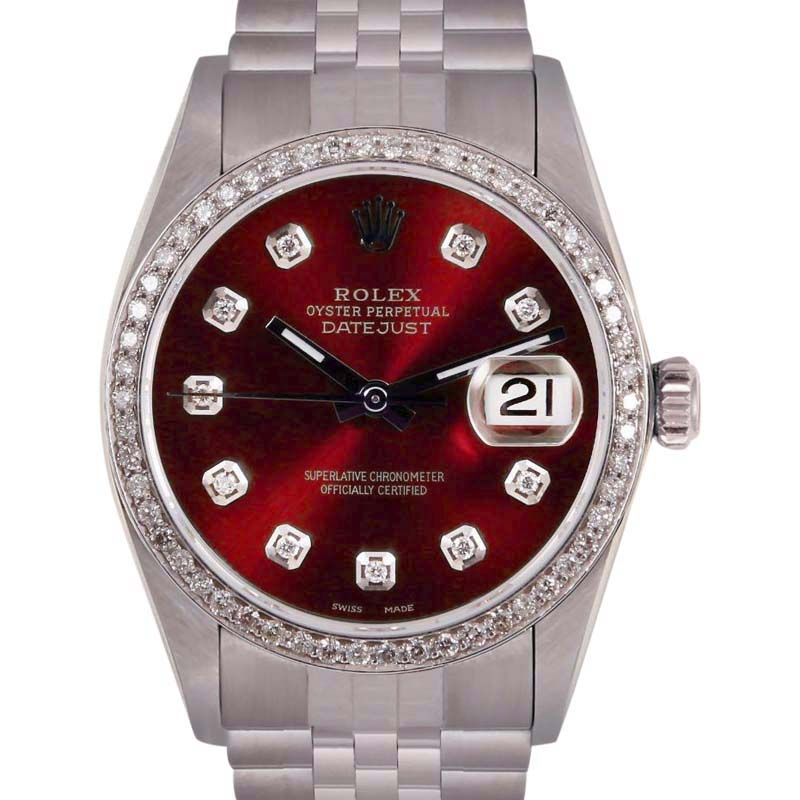 """Image of """"Rolex Datejust Stainless Steel/18K White Gold with Diamonds Automatic"""""""