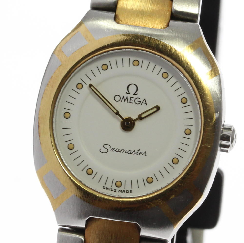 "Image of ""Omega Seamaster Polaris Stainless Steel/Gold Plated Quartz White Dial"""