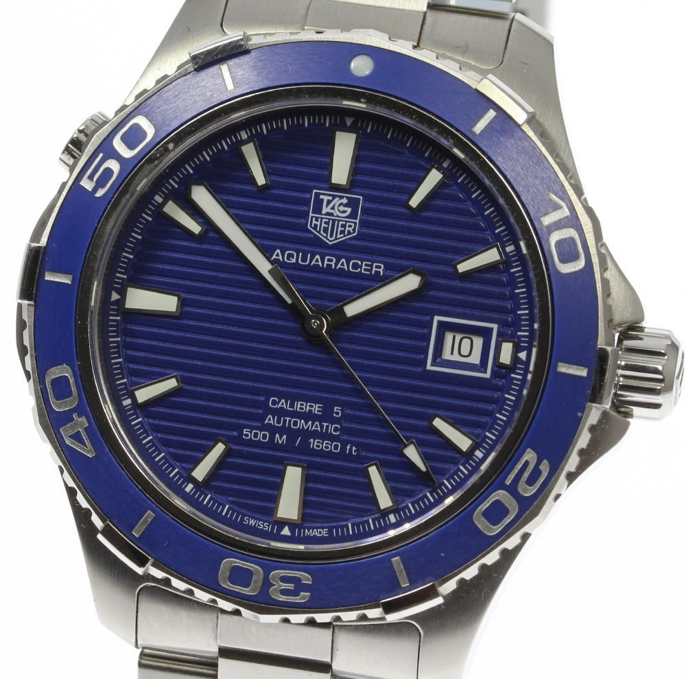 "Image of ""Tag Heuer Aquaracer Wak2111.ba0830 Stainless Steel Automatic 43mm Mens"""