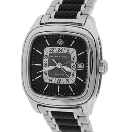 David Yurman Thoroughbred T306-DST Stainless Steel Black Dial Automatic 42mm Mens Watch