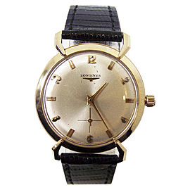 Longines 14K Yellow Gold Winding Vintage 34.5mm Mens Watch