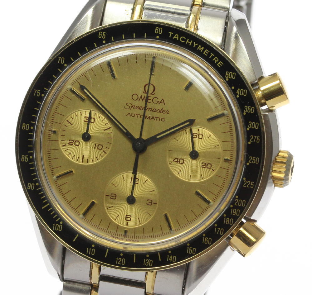 """Image of """"Omega Speedmaster 3310.10 18K Gold Plated / Stainless Steel Automatic"""""""