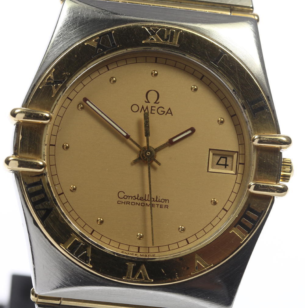"""Image of """"Omega Constellation Stainless Steel / 18K Yellow Solid Gold Quartz"""""""