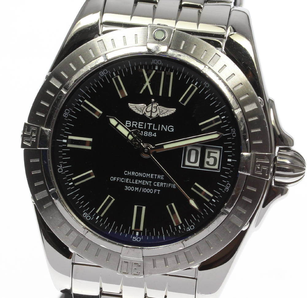 """Image of """"Breitling Windrider Cockpit A49350 Stainless Steel Black Dial 40mm"""""""