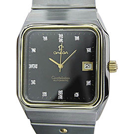 Omega Constellation Stainless Steel Automatic Mens 37mm Watch 1970s