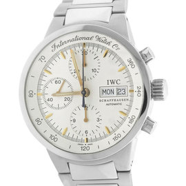 IWC GST Chronograph Day Date IW3707-013 Stainless Steel Silver Dial 39.5mm Mens Watch