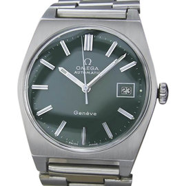 Omega Geneve Stainless Steel Automatic 35mm Mens Watch 1970s