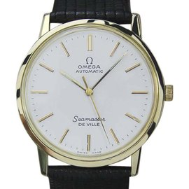 Omega Seamaster Deville Gold Capped Automatic 32.5mm Mens Watch 1970s