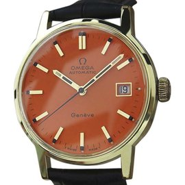 Omega Geneve Gold Plated Automatic 35mm Mens Watch 1970s