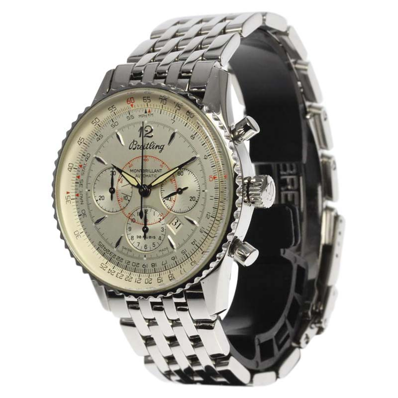 """Image of """"Breitling Montbrillant A41030 Stainless Steel Automatic 38mm Mens"""""""
