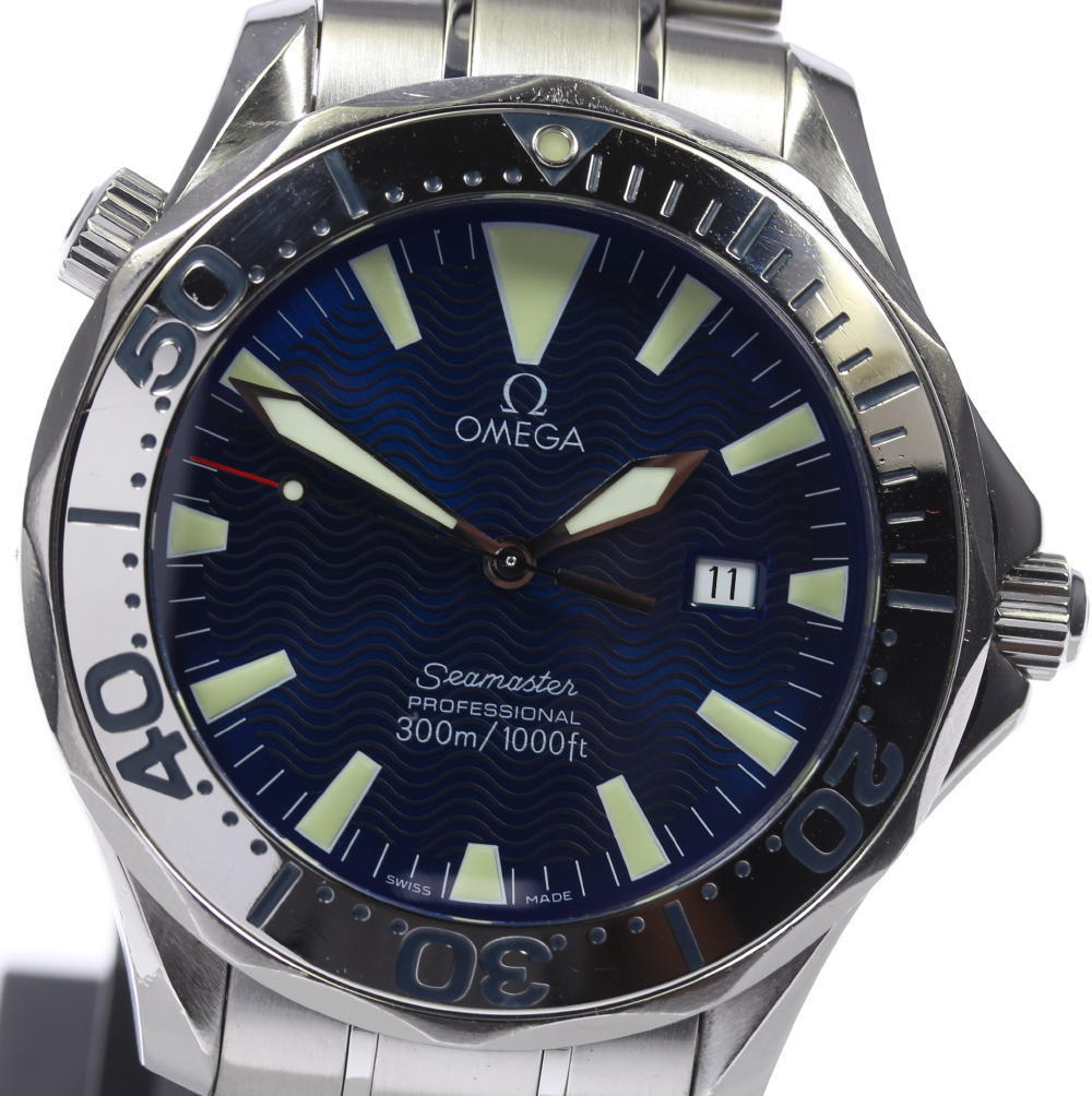 "Image of ""Omega Seamaster 2265.80 Stainless Steel Blue Dial Quartz 41mm Men's"""