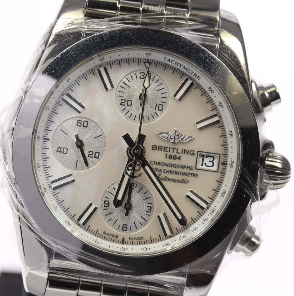 """Image of """"Breitling Chronomat W13310 Stainless Steel Mother of Pearl Dial"""""""