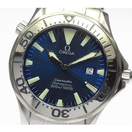 Omega Seamaster 2265.80 Stainless Steel Blue Dial Quartz 41mm Mens Watch