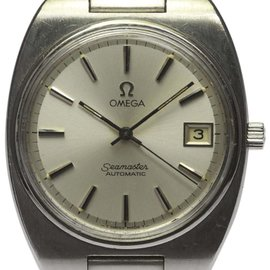 Omega Seamaster Date Stainless Steel Automatic Silver Dial 35mm Mens Wrist Watch