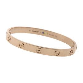 Cartier 18K Rose Gold Love Bangle Bracelet Size 17
