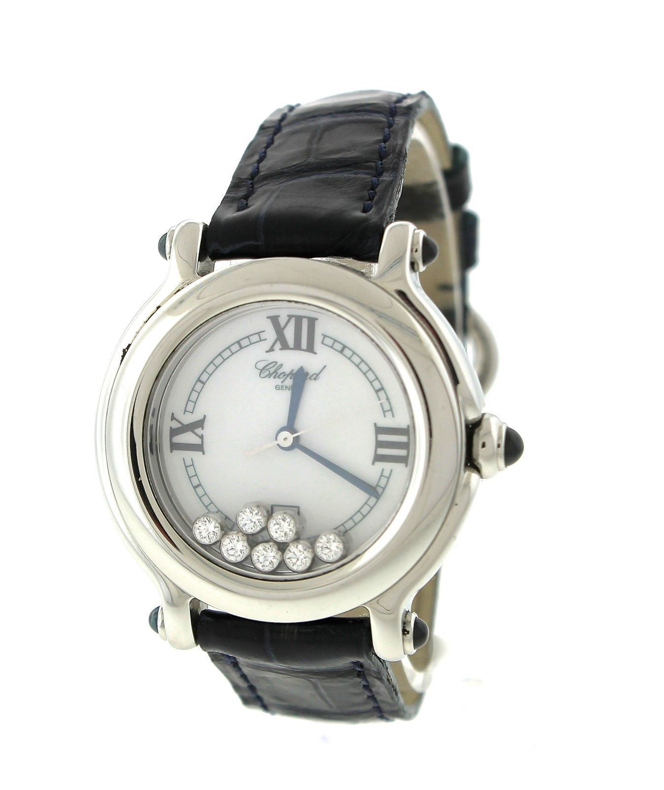 """Image of """"Chopard Happy Diamond Sport 8236 Stainless Steel Leather Quartz 36mm"""""""