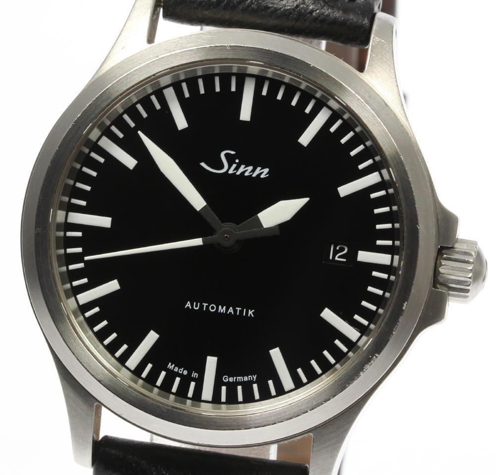"Image of ""Sinn 556 Stainless Steel / Leather Automatic 38mm Mens Watch"""