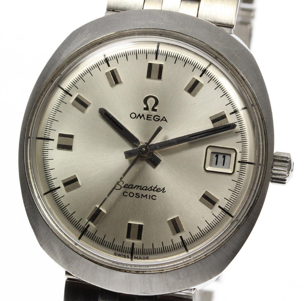 "Image of ""Omega Seamaster Date Cosmic Stainless Steel Hand-Winding 35mm Mens"""