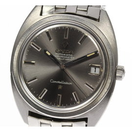 Omega Constellation Stainless Steel Gray Dial 34mm Mens Watch