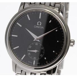 Omega DeVille Prestige Stainless Steel Black Dial Manual 34mm Men's Watch
