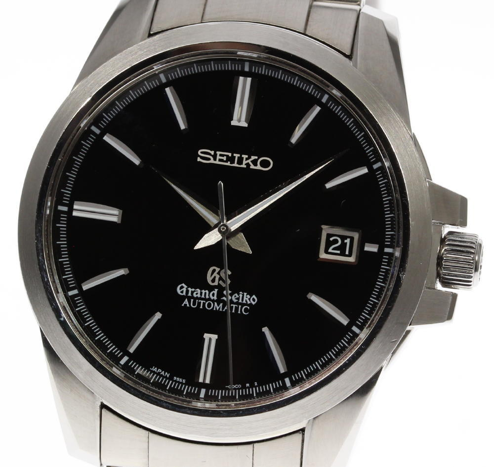 "Image of ""Seiko Grand Seiko Sbgr031 9S55-00C0 Stainless Steel with Black Dial"""