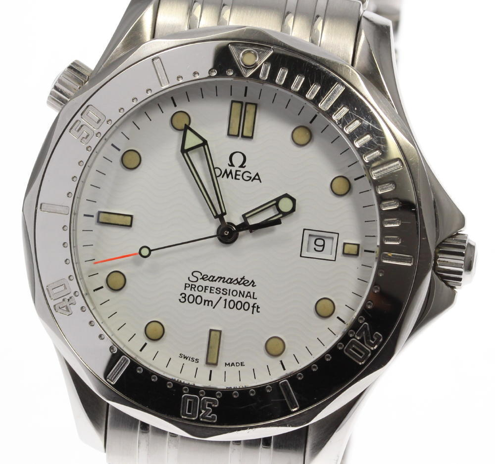 "Image of ""Omega Seamaster 2542.20 Stainless Steel with White Dial Quartz 41mm"""