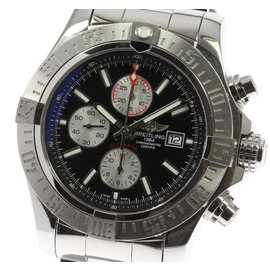 Breitling Super Avenger II A13371 Stainless Steel Automatic 50mm Mens Watch