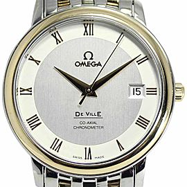 Omega Deville 43743100 18K Yellow Gold / Stainless Steel 37mm Mens Watch