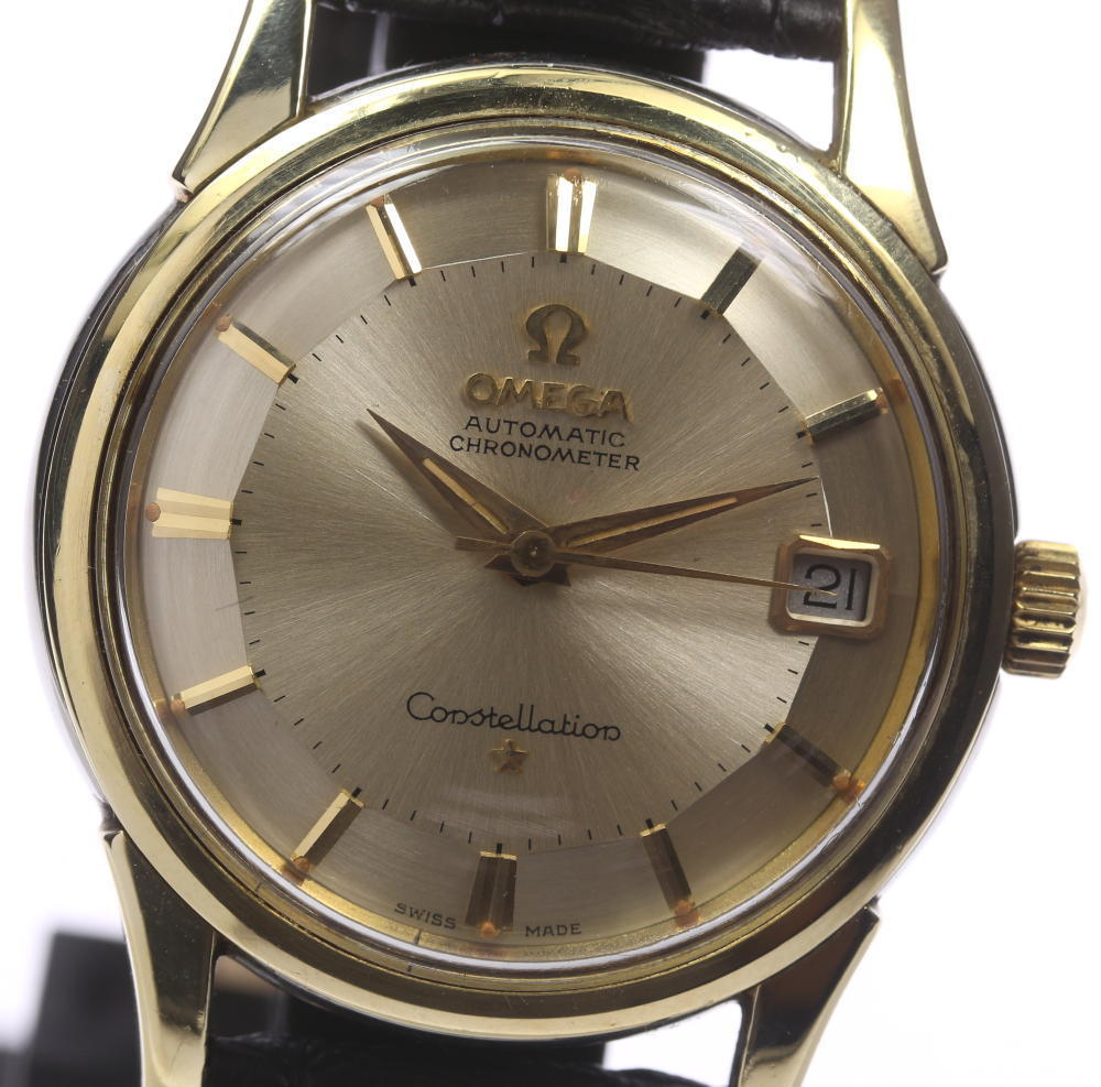"""Image of """"Omega Constellation Stainless Steel / Gold Plated & Leather Automatic"""""""