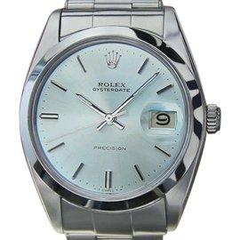 Rolex Oysterdate 6694 Stainless Steel Vintage Manual 35mm Watch 1965