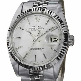 Rolex 1601 Stainless Steel Automatic Rare Vintage 36mm Mens Watch 1965