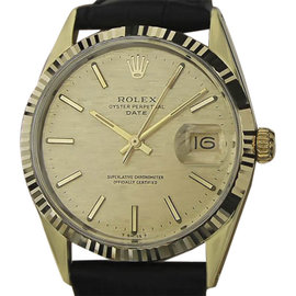 Rolex Oyster Perpetual 1550 Gold Cap and Stainless Steel Vintage 34mm Mens Watch 1970