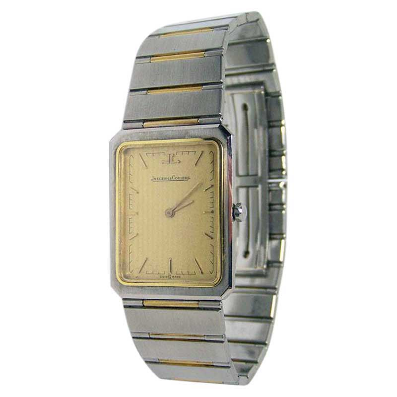 """Image of """"Jaeger Lecoultre 18K Yellow Gold & Stainless Steel 24mm Unisex Watch"""""""