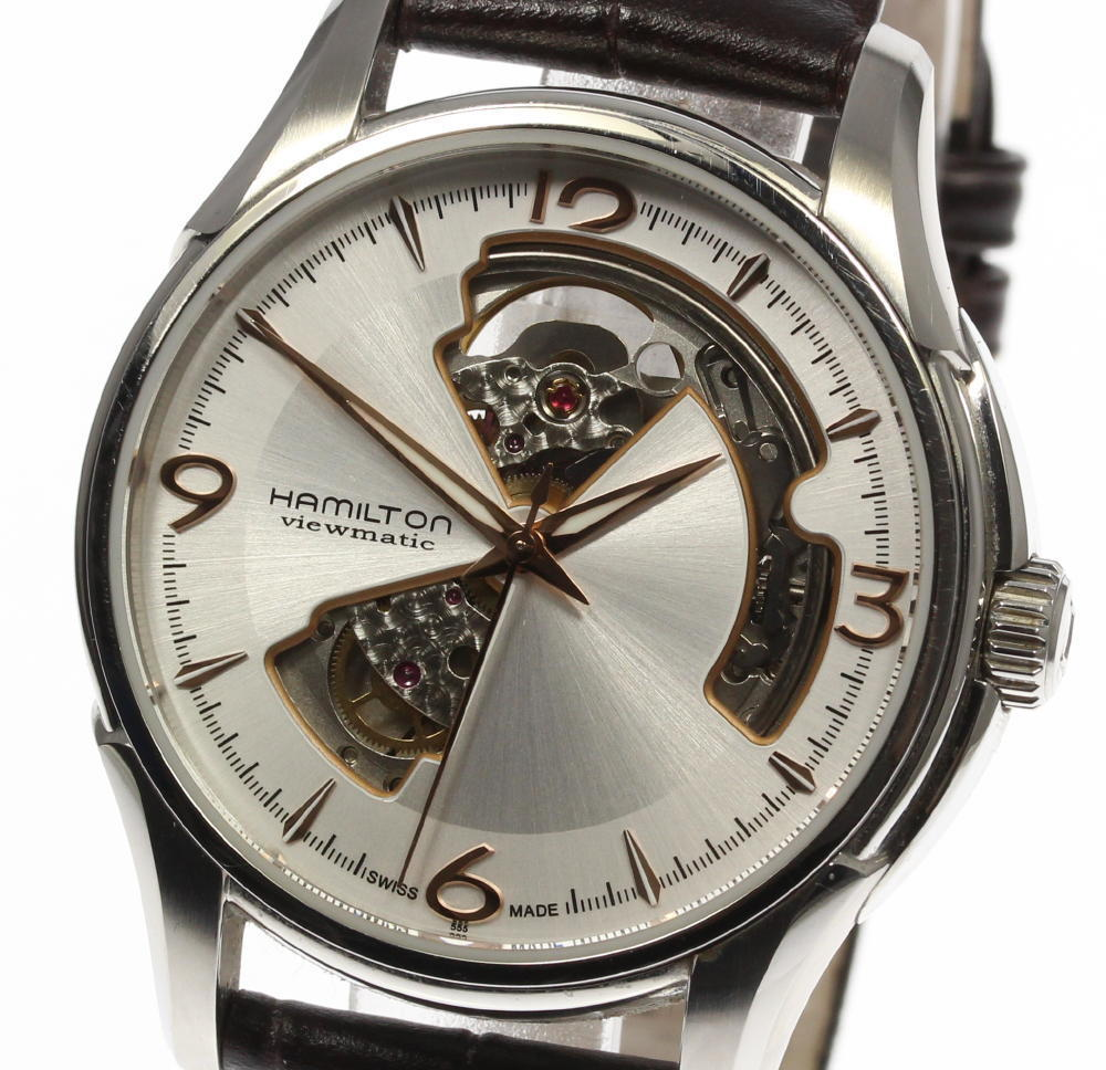 """Image of """"Hamilton Jazz Master H325650 Stainless Steel and Leather Automatic"""""""