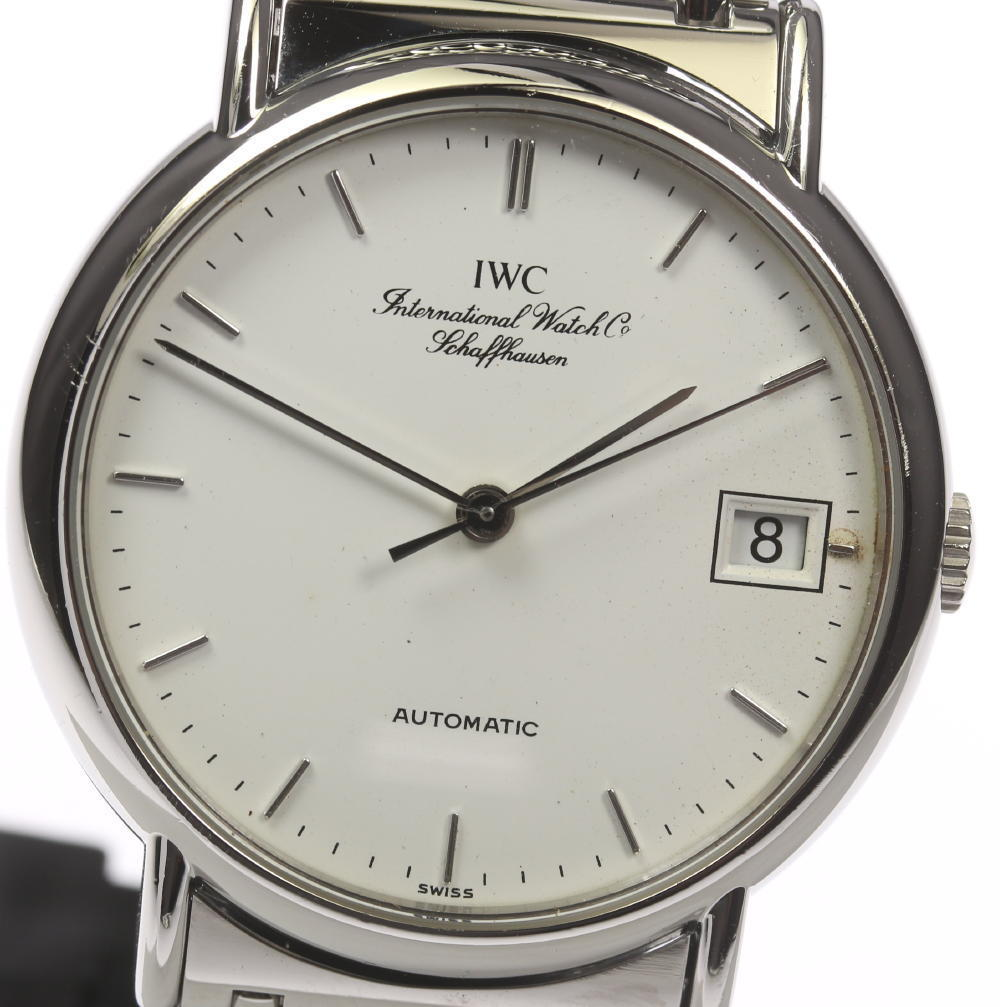 """Image of """"IWC Portofino Iw351318 Stainless Steel Automatic 34mm Mens Watch"""""""