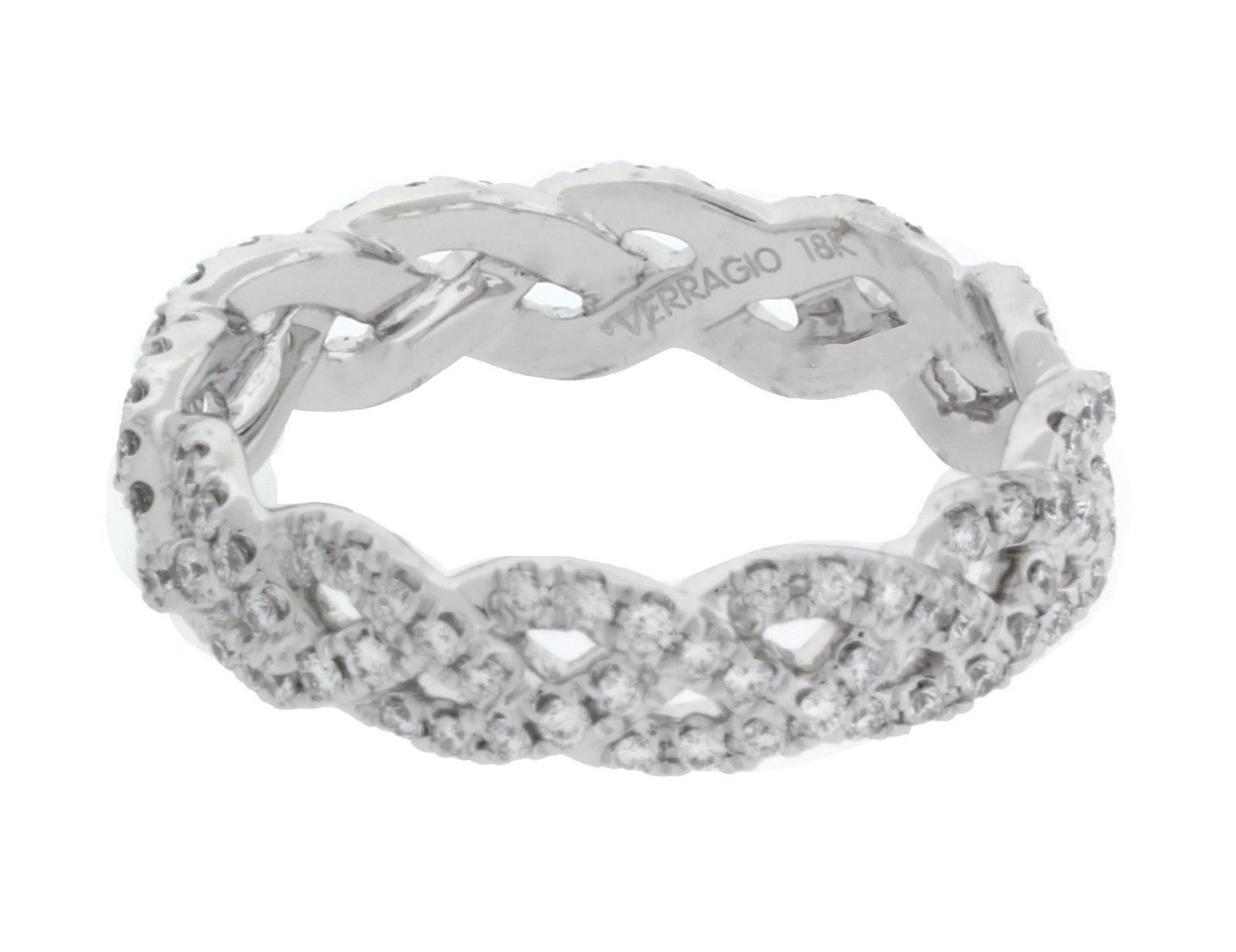 "Image of ""Verragio Eterna 18K White Gold with 0.60ct Diamond Eternity Band Ring"""