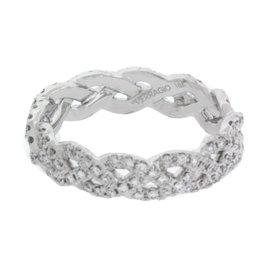 Verragio Eterna 18K White Gold with 0.60ct Diamond Eternity Band Ring Size 6.25