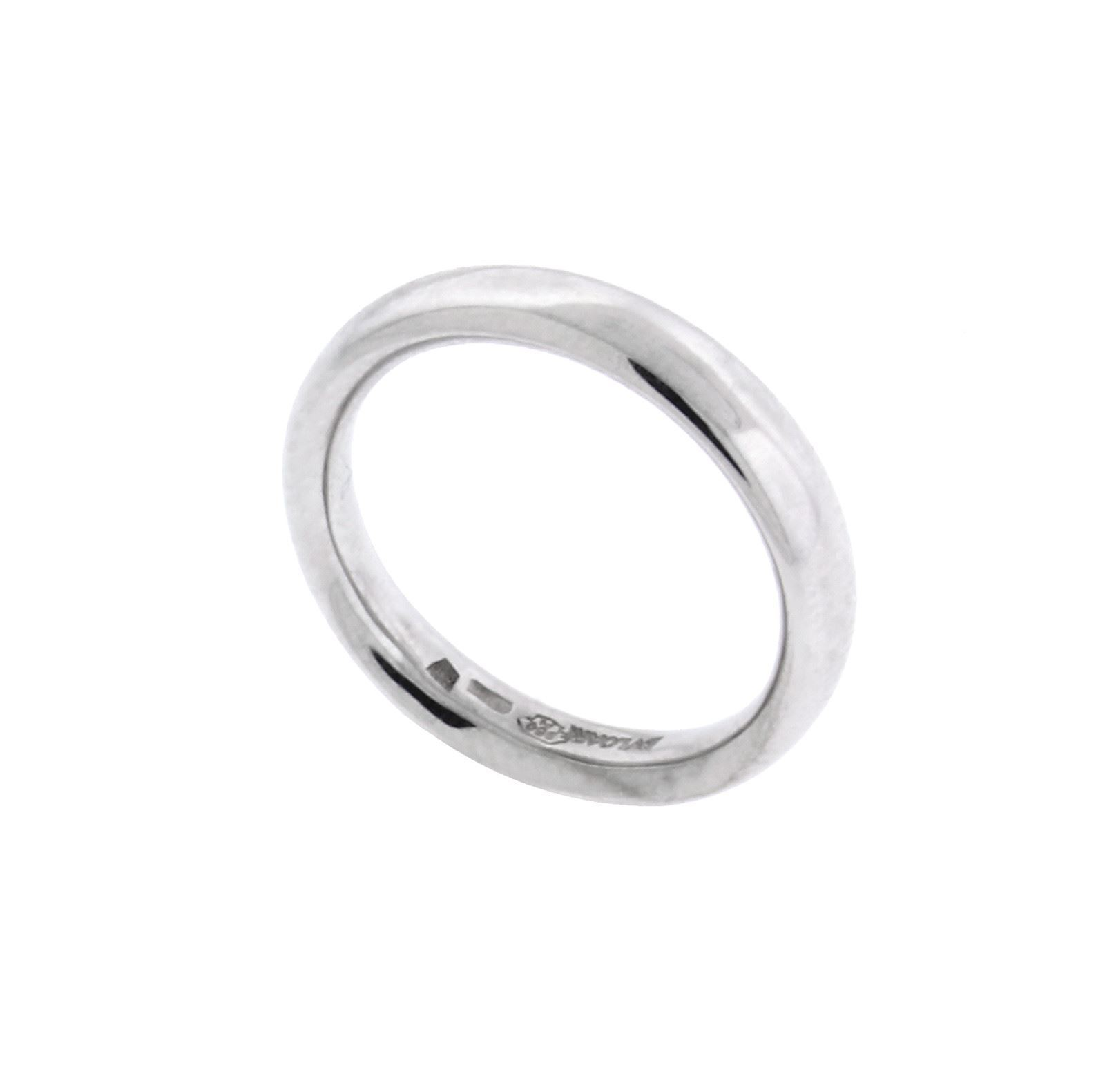"Image of ""Bulgari 18K White Gold Band Ring Size 10"""
