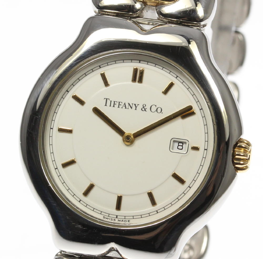 """Image of """"Tiffany & Co. Tissolo M0112 Stainless Steel / Gold Plated Quartz 33mm"""""""
