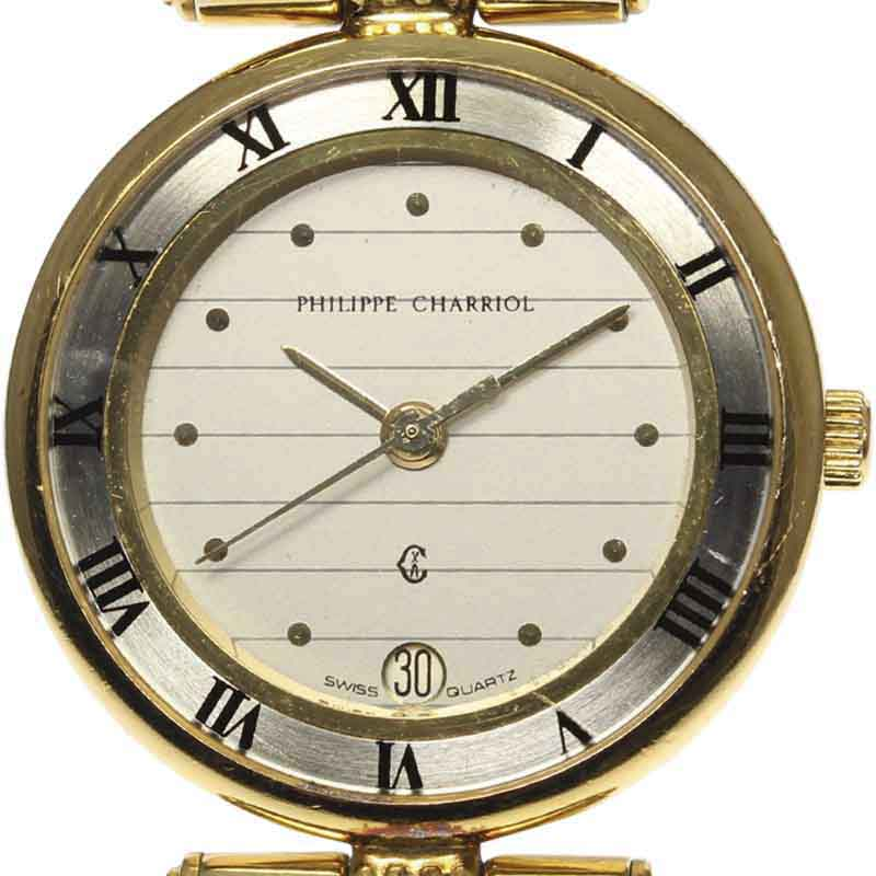 """Image of """"Philippe Charriol Celtic Stainless Steel / Gold Plated Quartz 24mm"""""""