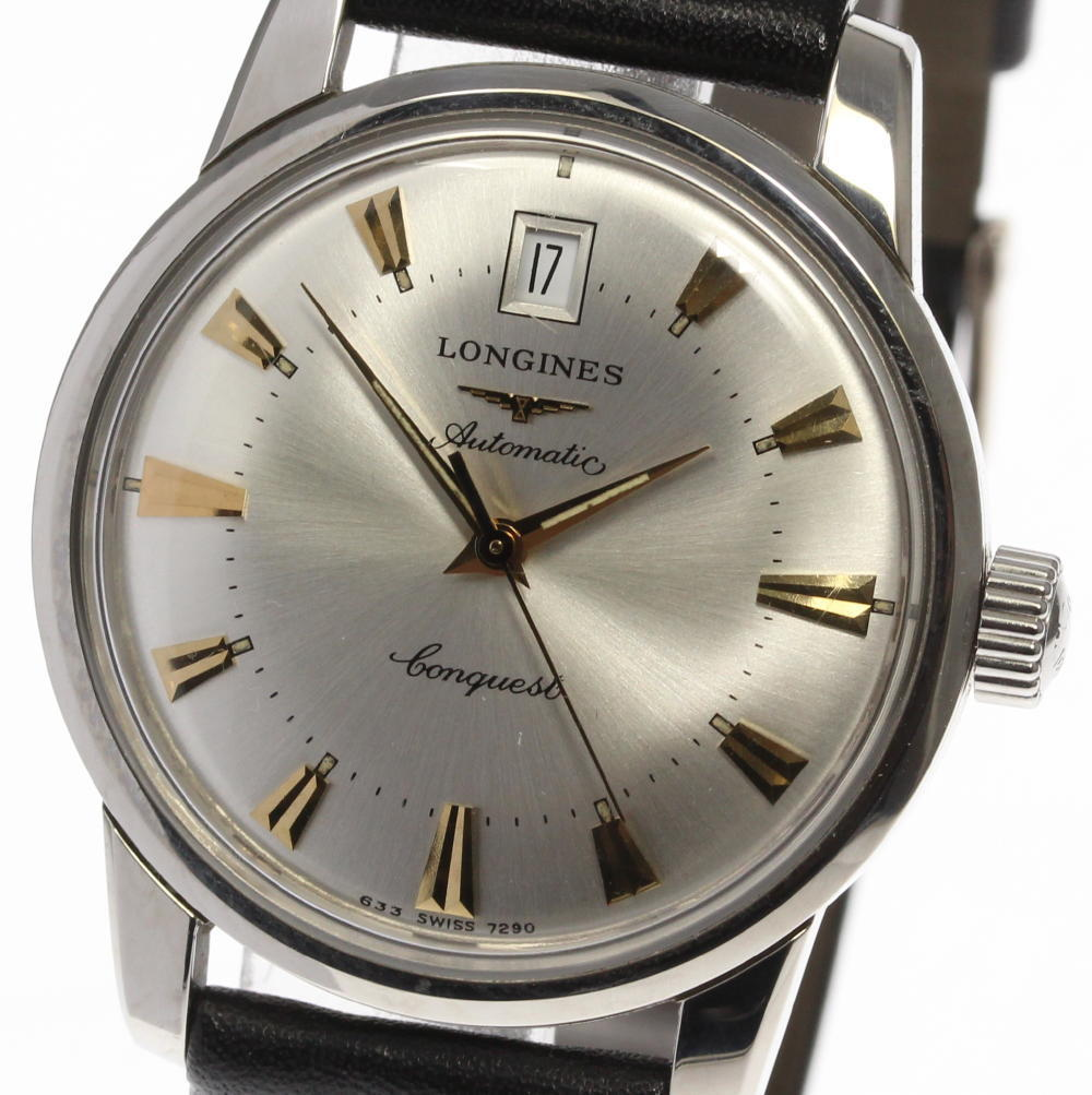 """Image of """"Longines Conquest Heritage L1.611.4 Stainless Steel & Leather"""""""