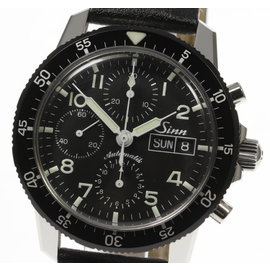 Sinn 103.B. Stainless Steel & Leather Automatic 41mm Mens Watch