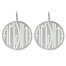 Bulgari 925 Sterling Silver Enigma Earrings
