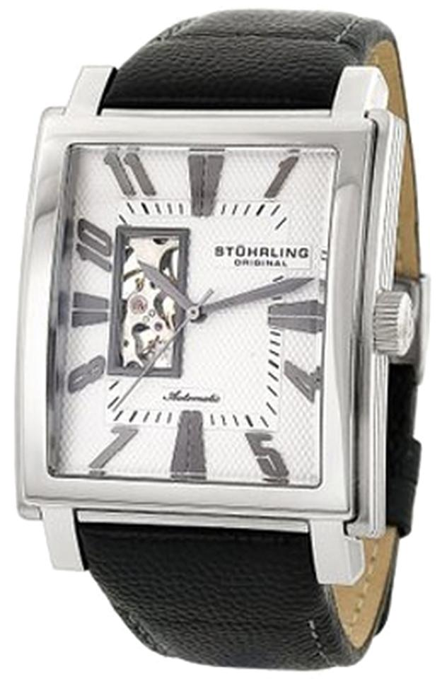 "Image of ""Stuhrling Metropol 267.33152 Stainless Steel & Leather 41mm x 47mm"""