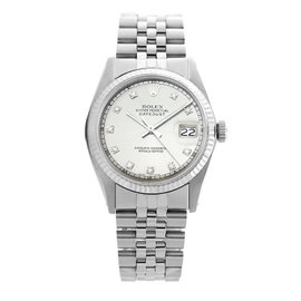 Rolex Datejust 1601 Stainless Steel and 18K White Gold Silver Dial 36mm Watch