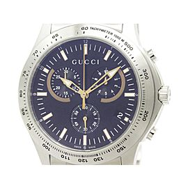 Gucci G Timeless 126.2 YA126257 Stainless Steel Chronograph Quartz 44mm Watch