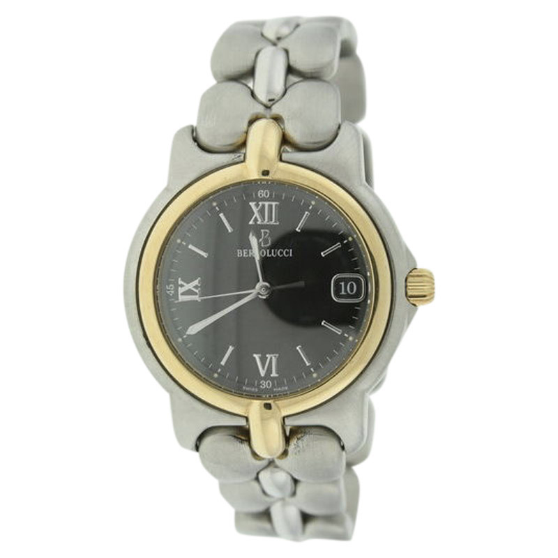 "Image of ""Bertolucci 123.55549P 18K Yellow Gold & Stainless Steel 36mm Watch"""